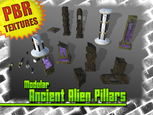 Modular Ancient Alien Pillars
