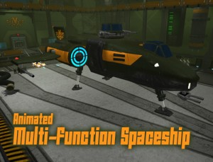 Animated Multi-Function Spaceship